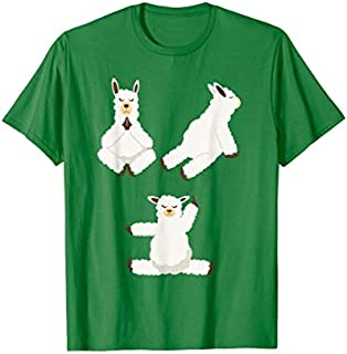 Llamas Yoga Positions  | Cute Yoga Poses Fans Tee Gift T-shirt | Size S - 5XL