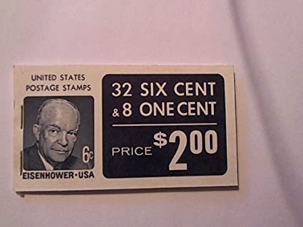 Eisenhower USA Stamps 32 Six Cent 8 One Booklet