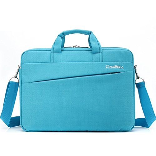 Stylish Laptop Carry Case with Shoulder Strap, LYCSIX66 Nylon Messenger Bag for 12.9 iPad Pro / 13 Inch MacBook Air Pro / 13.3 Inch Notebook Computer/ Ultrabook - blue