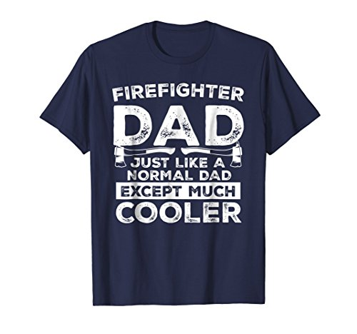 (Mens Funny Firefighter Dad shirt - perfect present 2XL Navy)