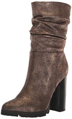 Bronze Calf Footwear - Katy Perry Women's The Raina Mid Calf Boot, Bronze, 8.5 M M US