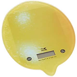Kalorik Lemon Digital Kitchen Scale, Small, Yellow
