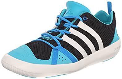 adidas Outdoor Unisex Climacool Boat Lace Water Shoe, Core Black/Chalk, 6 M US