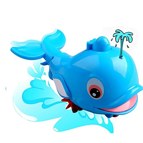 KateDy 1 pc Fun Sea Animals Bath Toy Swimming Fish Spray Water Dolphins Floating Bath Shower Pull toy Play Baby Kids Gift