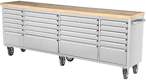 Thor 96 Tool Chest 24 Drawers Anti-Fingerprint Stainless Steel Tool Box HTC9624M