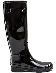 Hunter Womens Original Refined Gloss Black Boot