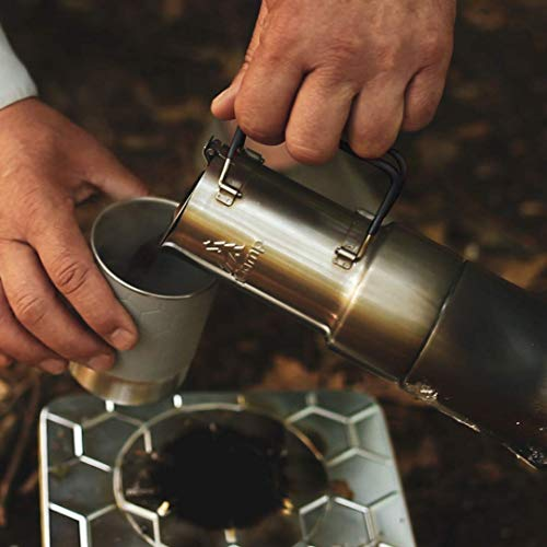 nCamp Portable Camping Coffee Maker, Compact Espresso Style, Stainless Steel Stovetop Cafe Gear for Camping Backpacking…