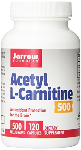 Jarrow Formulas Acetyl L-Carnitine 500mg, 120 Count (Pack of 3)