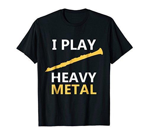 I Play Heavy Metal T-Shirt, Clarinet Player Shirts -