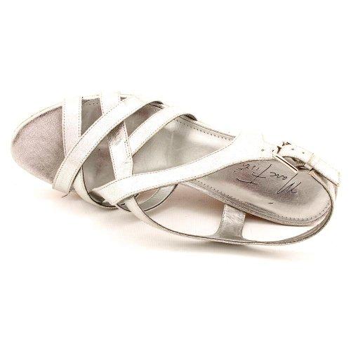Marc Fisher - Sandalias de vestir para mujer Silver Fabric
