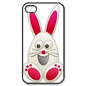 UNI-BEE PHONE CASE For Iphone 4 4S case cover -Rabbit & Bunny-CASE-STYLE 11