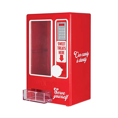 "KOVOT Sweets Vending Machine Tabletop Candy Dispenser | Desktop Candy Dish | Pull The Knob To Dispense Mini Treats | Measures 7.5""H x 5""W x 3.25""D"