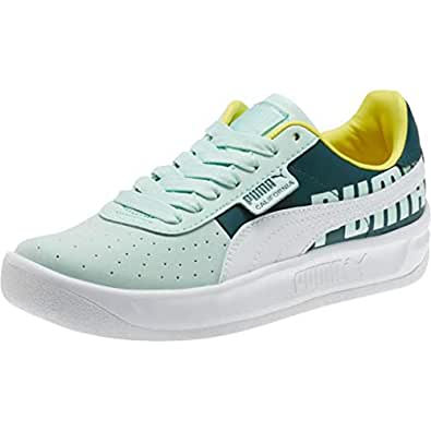 PUMA California TOL Logo Fair Aqua/White Womens 6.5
