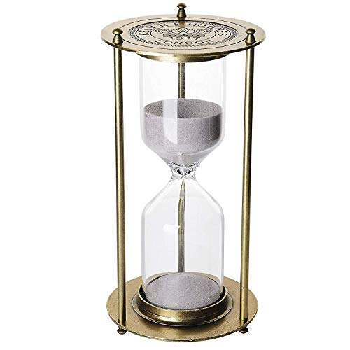Metal Hourglass 60 Minutes,KSMA 1917 Vintage One Hour Glass Timer with Sand for Gift