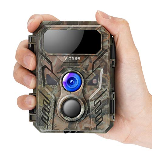 Victure Mini Trail Game Camera 16MP 1080P with Advanced Night Vision Motion Activated IP66 Waterproof for Hunting Games and Wildlife Watching