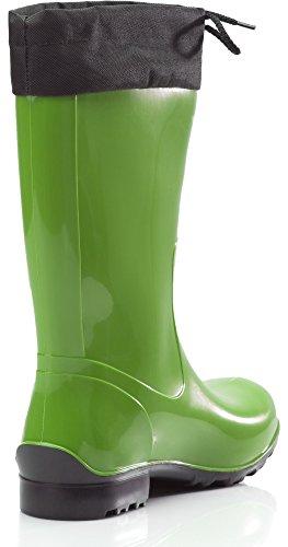 La Con Stivali nero Collare Verde Ladeheid 968 Donna In Gomma xYddZI6