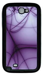 Samsung Galaxy Note II N7100 Case,Abstract Purple lines TPU Custom Samsung Galaxy Note II N7100 Case Cover Black