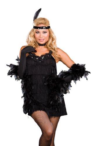 Dreamgirl Plus All That Jazz Dress, Black, 1x/2x