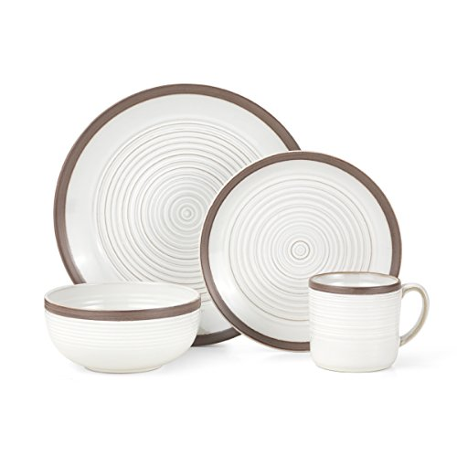 Dark Brown Stoneware - Pfaltzgraff Carmen Brown 16-Piece Stoneware Dinnerware Set, Service for 4