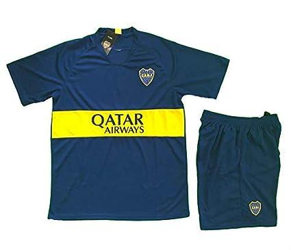 c4ad4f5273582 Amazon.com : Boca Juniors Soccer Adult Uniform Sets Jersey & Short ...