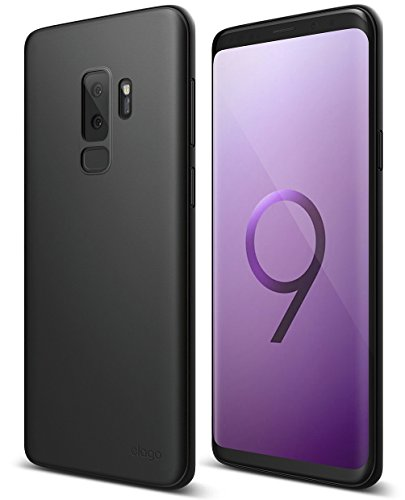(elago Origin Series Galaxy S9 Plus Case - Minimalistic Design Slim Fit Scratch Resistant Protective Cover for Galaxy S9 Plus [Device Fitting Tested] (Black))