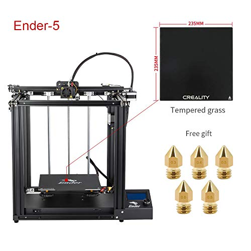 Creality Ender 5 3D Printer with Glass Bed and Five Nozzles 2019 New Version (Best Dual Extruder 3d Printer 2019)