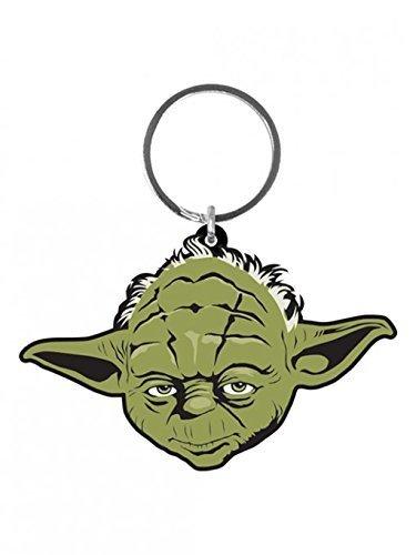 Yoda Rubber Keychain // Keyring Merchandiseonline Star Wars Size: 2.5 x 2