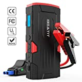 Beatit BT-D11 800A Peak 18000mAh 12V Portable Car Jump Starter (up to 7.5L Gas Or 5.5L Diesel) with Smart Jumper Cables Auto Battery Booster Power Pack …