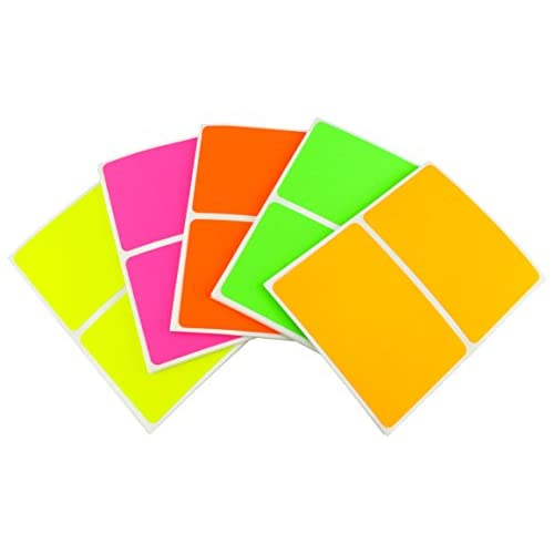 """Wholesale Assorted, Neon Colors Nametag Stickers 