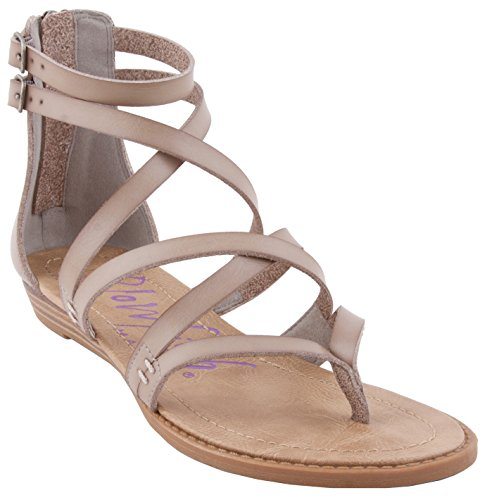 Blowfish Women's Bungalow Sandal, Mushroom, 7.5 M US