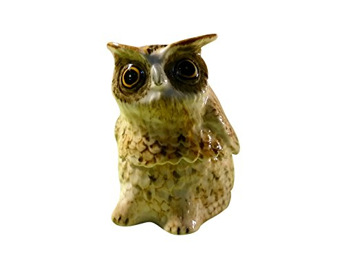 Sansukjai Jewelry Box Ceramic Owls Figurines Hand Painted Animals Collectible Gift Home Decorate (Homemade Cupcake Costume Kids)