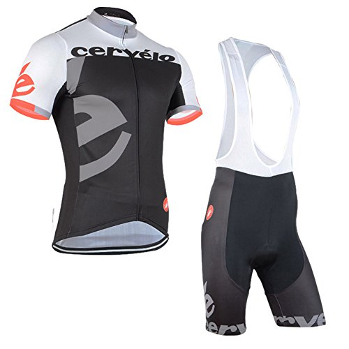 UONO Mens Short Sleeves Team Cycling Jersey Jacket Bicycle Bike Shirt Cycling Padded Bib Shorts - Team Apparel Cycling