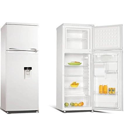 Jocel Frigorífico Blanco Nevera Dispensador de Agua 160 L y Congelador 44 L JF-250LD