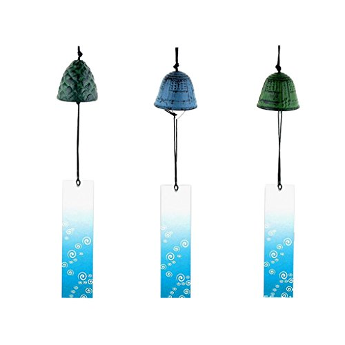 Homyl Set of 3 Creative Japanese Iron Wind-bell Temple Wind-chime Indoor Outdoor