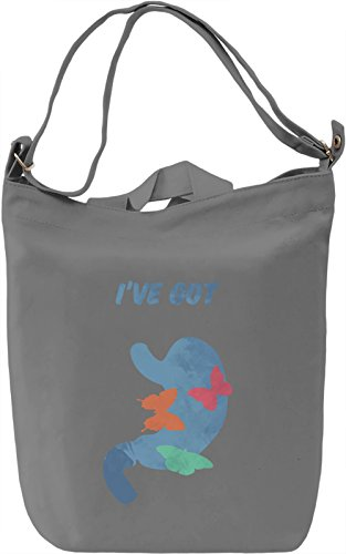 Butterflies in the stomach Borsa Giornaliera Canvas Canvas Day Bag| 100% Premium Cotton Canvas| DTG Printing|