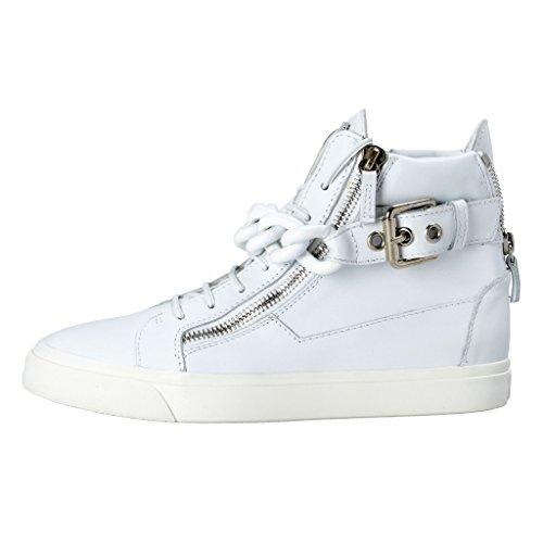 Van Giuseppe Zanotti Homme Heren Lederen Fashion Sneakers Schoenen Wit