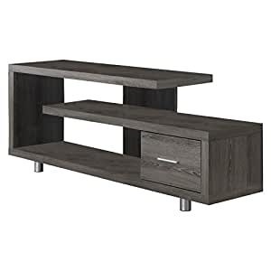 """Monarch Specialties I 2574 Dark Taupe with 1 Drawer TV Stand, 60"""""""