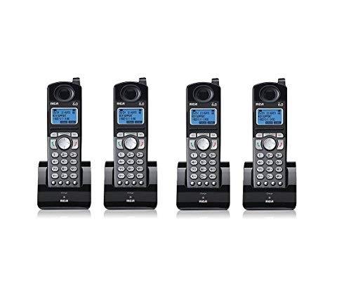 6.0 Dect Expansion Handset - RCA 25055RE1 Dect 6.0 Cordless Expansion Handset 2-Line Landline Telephone - 4 Pack