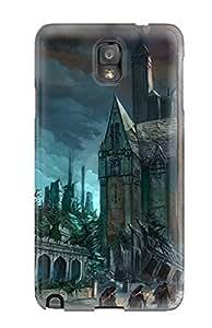[ZchPt1110qpiOW]premium Phone Case For Galaxy Note 3/ Fantasy Church Tpu Case Cover