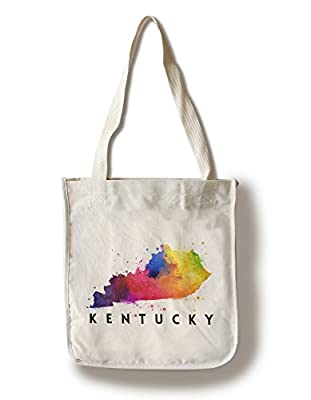 Kentucky - State Abstract Watercolor (100% Cotton Tote Bag - Reusable, Gussets, Made in America)