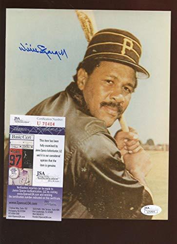 Willie Stargell Autographed Photograph - Batting Stance 8 X 10 JSA Cert - Autographed MLB Photos ()