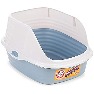 Cat Litter Arm & Hammer Large Rimmed Litter Pan [tag]