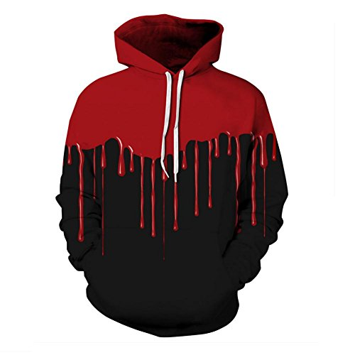 DMMSS Men's Drawstring Sports Hoodie Color Gradient Realistic 3D Printed Unisex Sweatshirts Long Sleeves with Big Pocket For Teenage Halloween Costumes (Multiple Colours And Size), style 1, l/xl -
