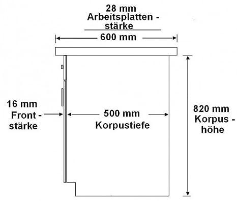 Küchen Unterschrank 60 cm für das Modell ,,Omega 240 Schwarz + ... | {Küchen unterschrank schwarz 27}