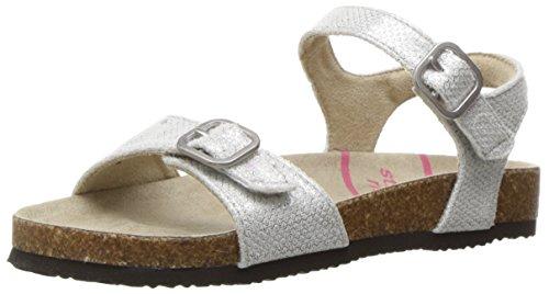 Big Buckle Sandals (Stride Rite Zuly Sandal (Toddler/Little Kid/Big Kid), Silver, 1 M US Little Kid)