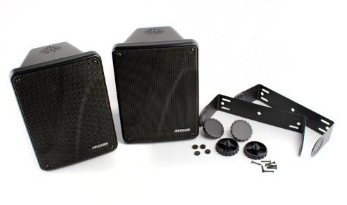 """4) NEW KICKER KB6000 6.5"""" Black Indoor Outdoor/Marine Speakers 11KB6000B + Wire"""