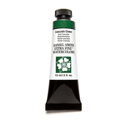 DANIEL SMITH Extra Fine Watercolor 15ml Paint Tube, Cascade Green