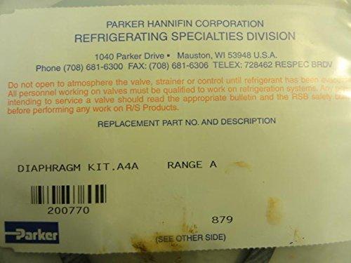 Parker Diaphragm Kit, A4A Range A # 200770