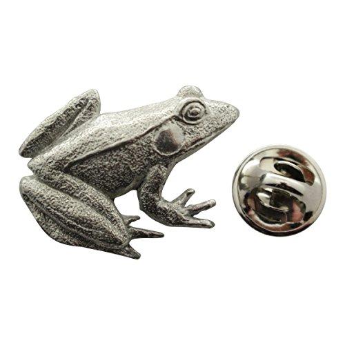 Frog Pin ~ Antiqued Pewter ~ Lapel Pin ~ Sarah's Treats & (Frog Pins)