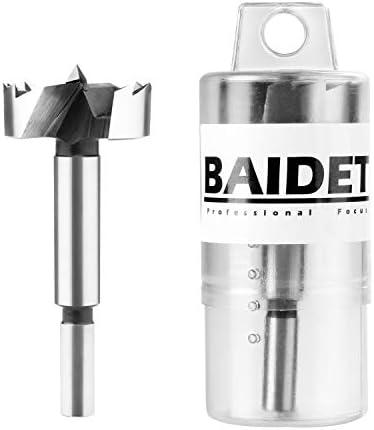 BAIDETS Forstner Bit Set Forstner Drill Bit Wood Drilling 1-Inch by 5//16-Inch Shank